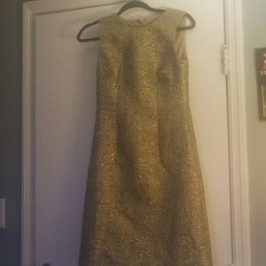 Ann Taylor gold dress